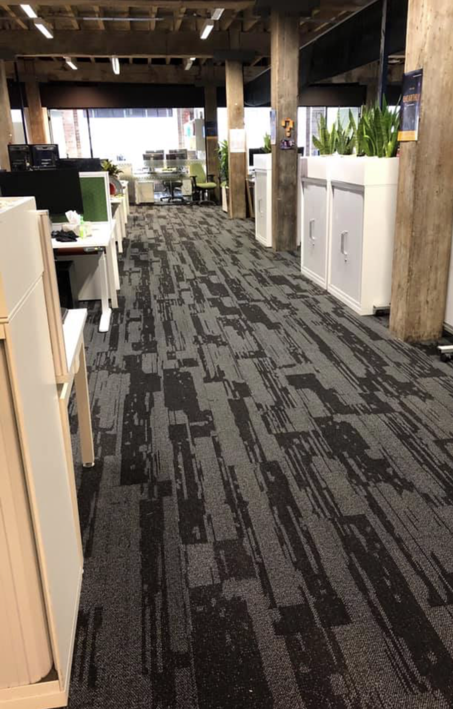 Urban Jet carpet in an office space, Perth Western Australia, Walkway view