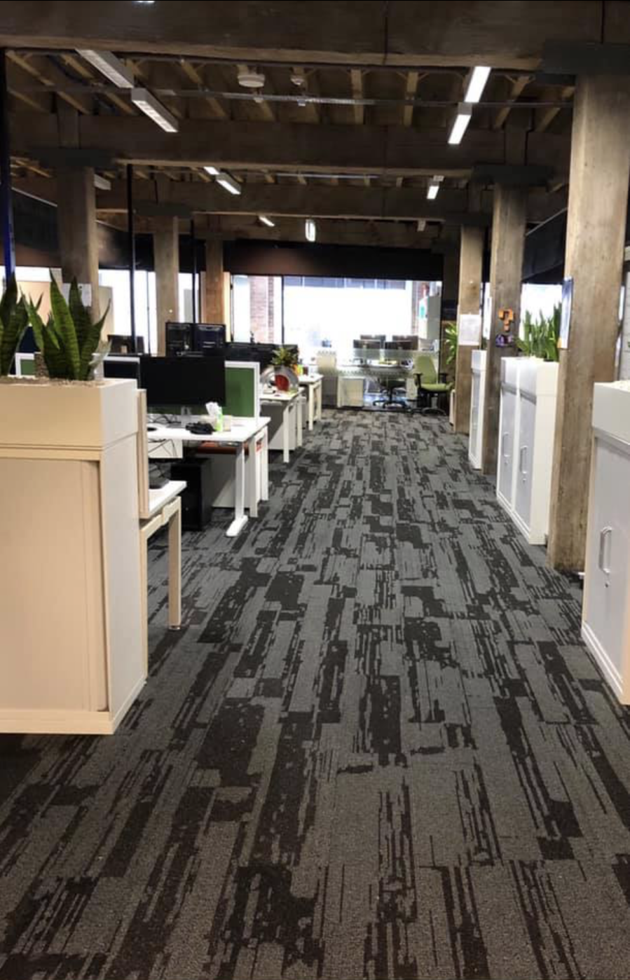 Urban Jet carpet in an office space, Perth Western Australia, Walkway view alternative