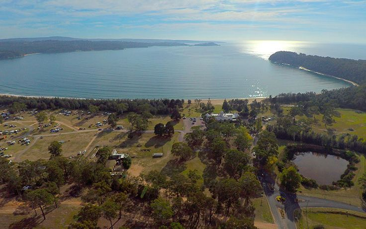Aerial view of Boydtown Beach Holiday Park