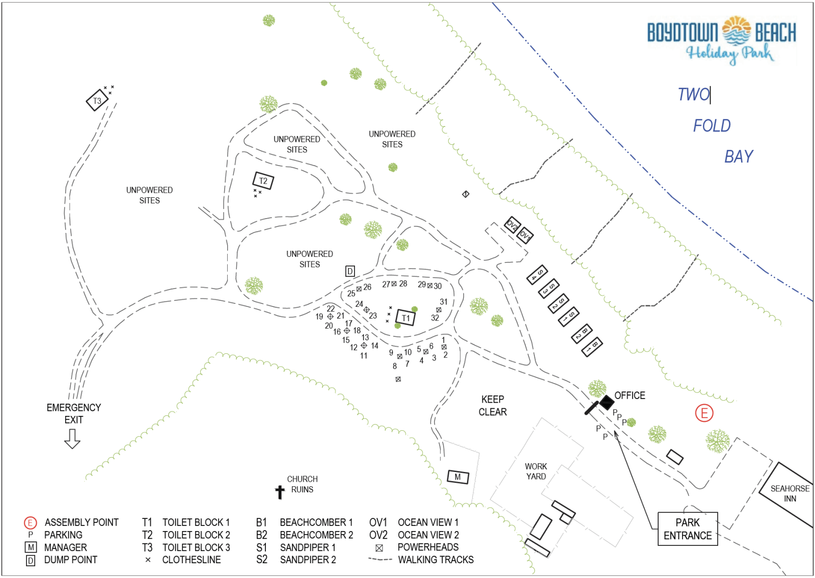 Map of Boydtown Beach Holiday Park