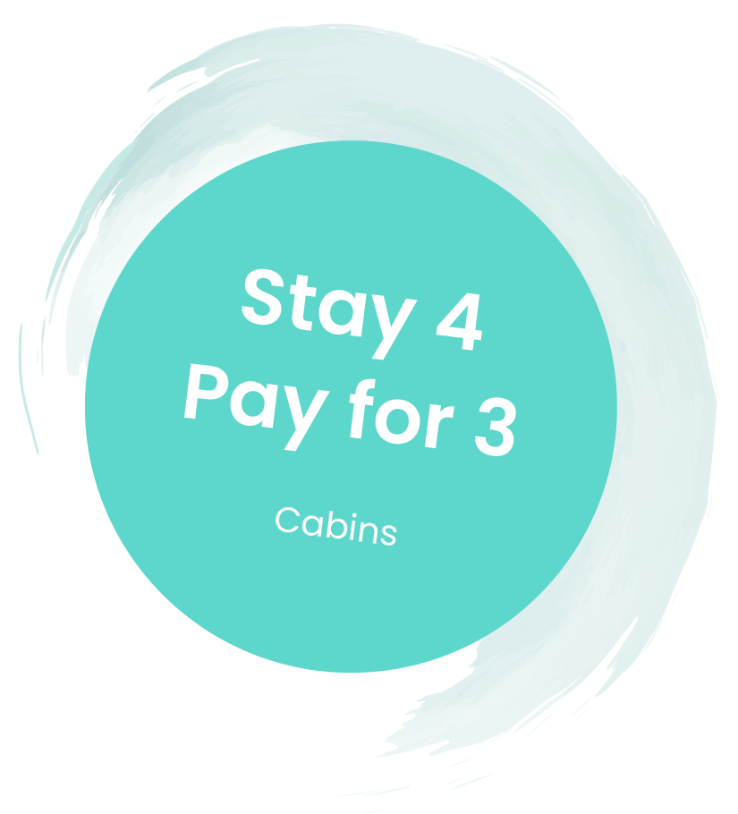 Stay 4 Pay for 3: Cabins