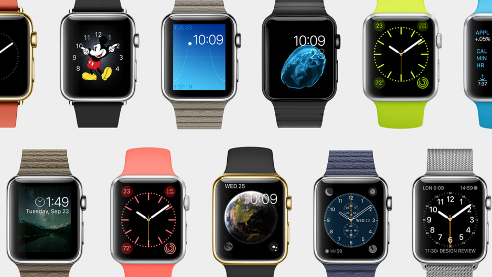 You can choose and customize the watch face you like, it's easy.