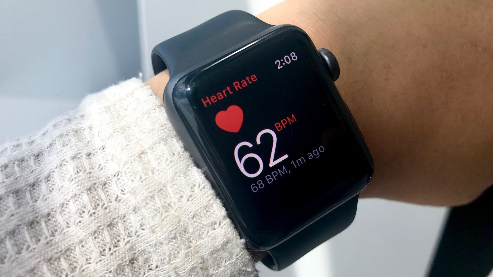 When you open Heart Rate app it shows your heart rate in real time.
