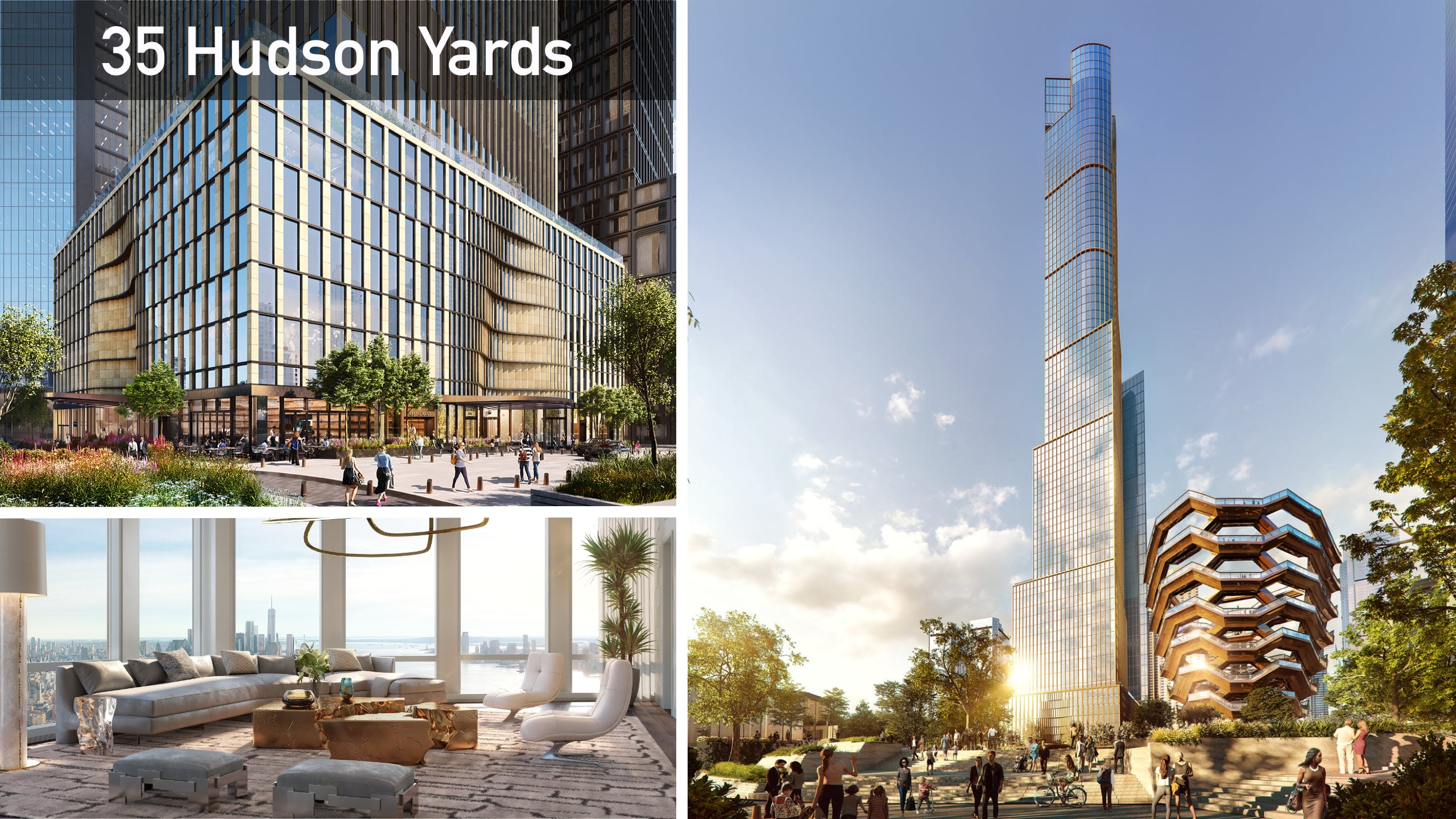 35 Hudson Yards tower views