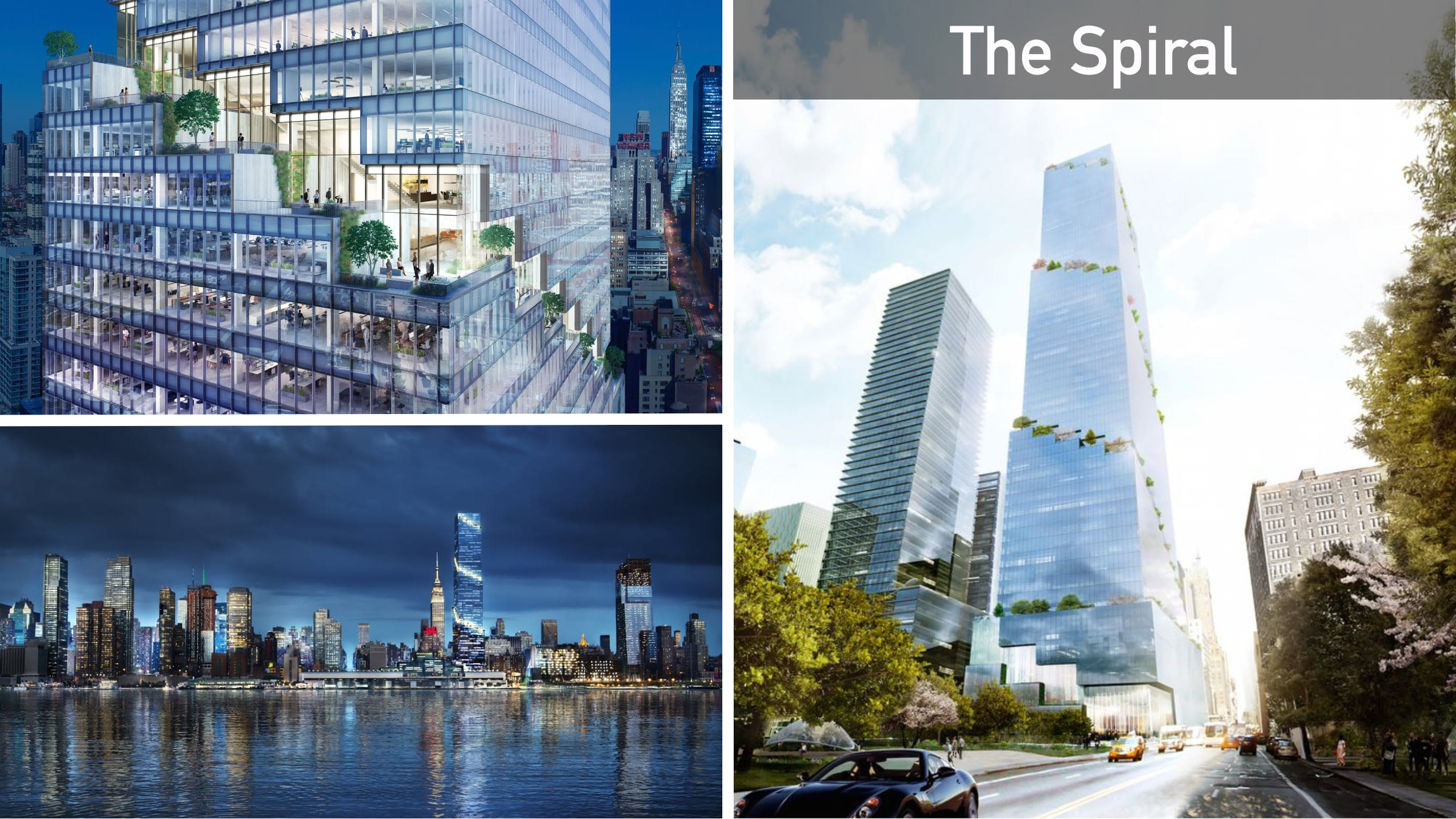 """""""From The High Line to the skyline""""  is the motto of The Spiral, meaning the transition from the High Line Park to vertical spiral gardens rising to the sky."""