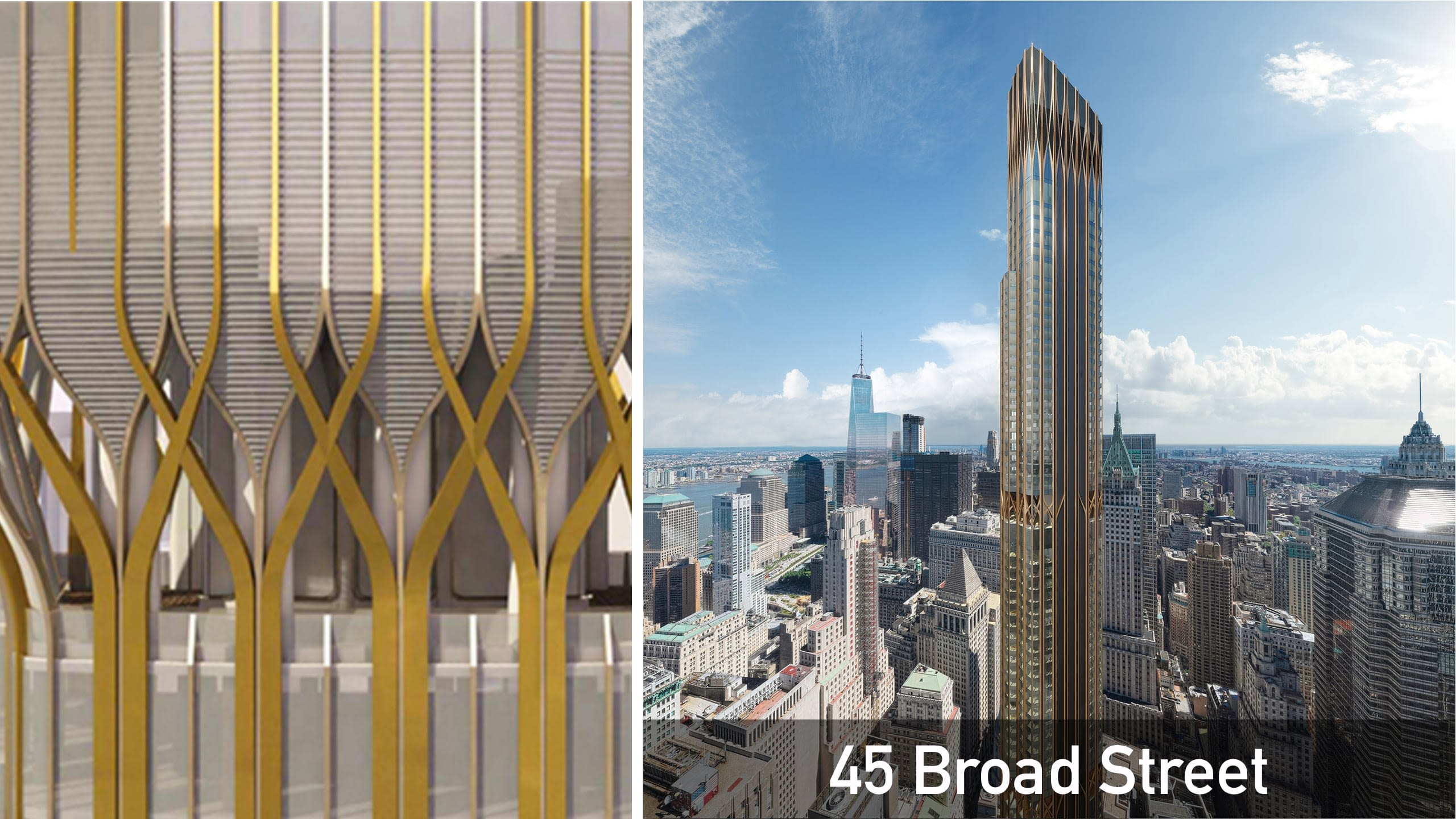 A beautiful new tower in the Financial District with Elvish-like design.