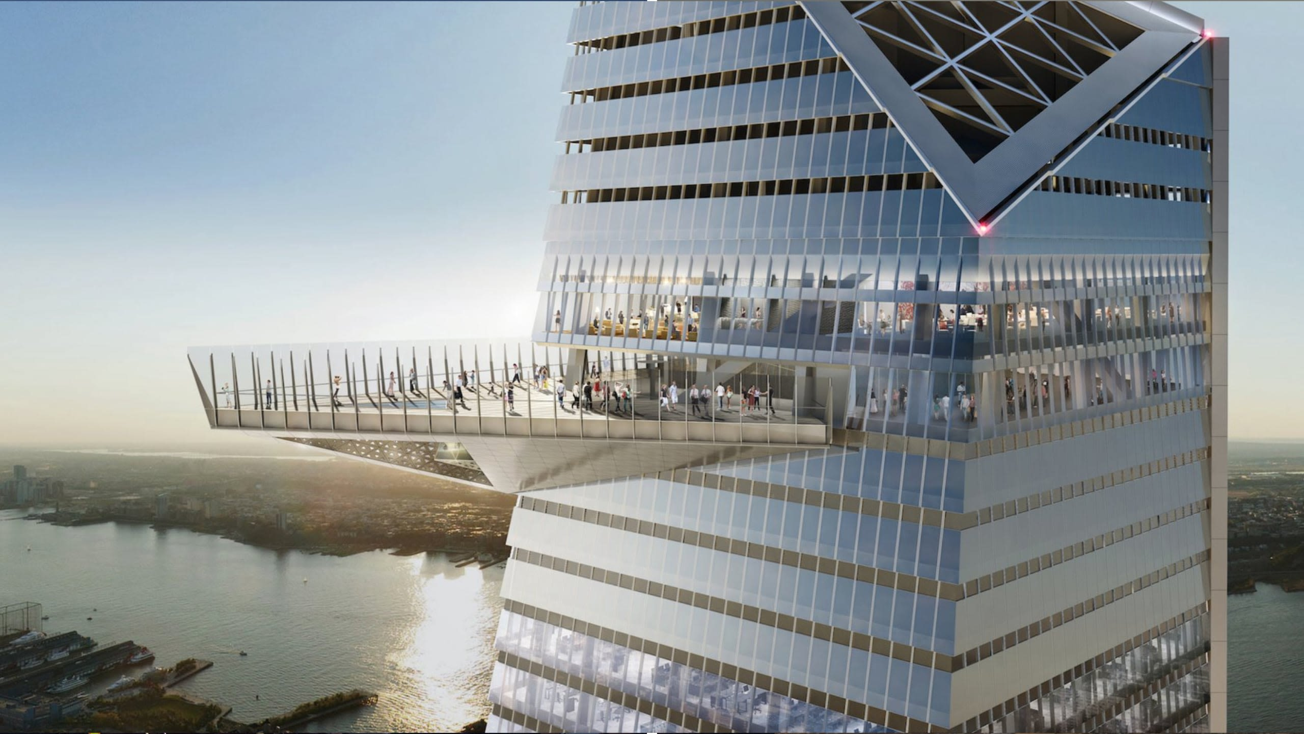 The tallest observation deck in New York will be more than 305 m above the ground on the eastern side of 30 Hudson Yards.