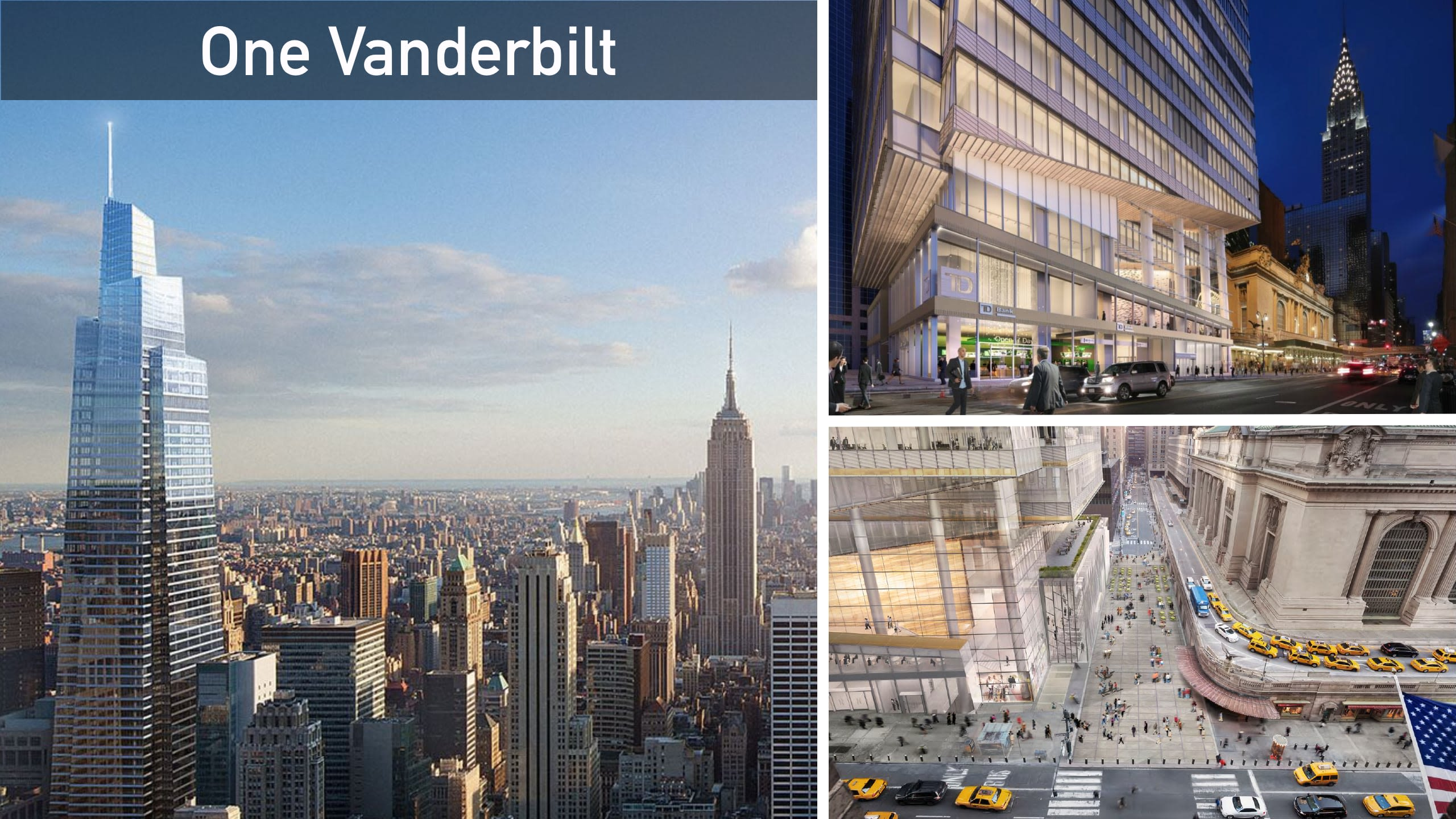 Right across the Grand Central very soon will rise One Vanderbilt tower.