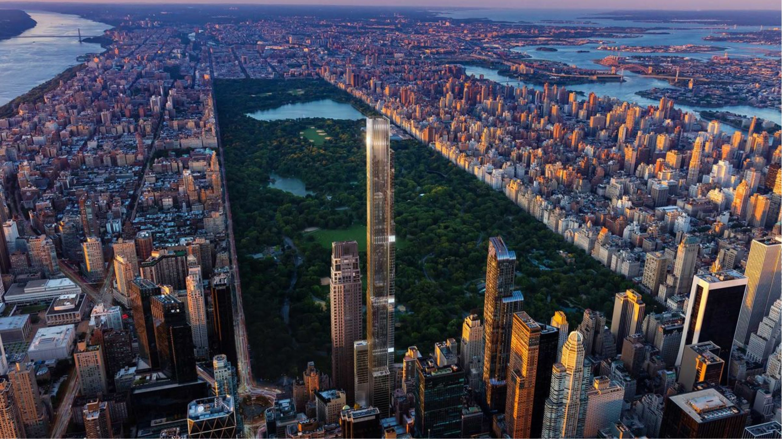 The tallest residential building in the world with the best views at Central Park.