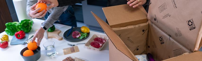 duurzame verpakking voor temperatuur gevoelige leveringen