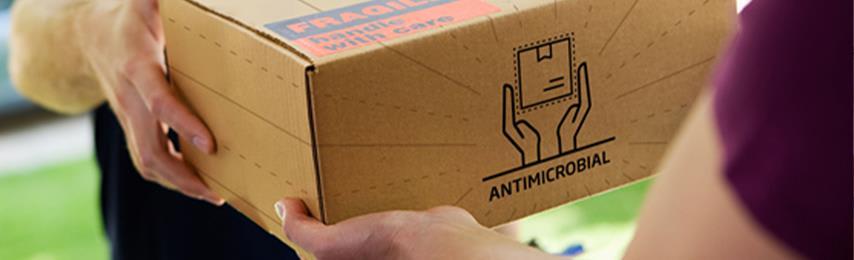 Verpakkingen met een antimicrobiële coating