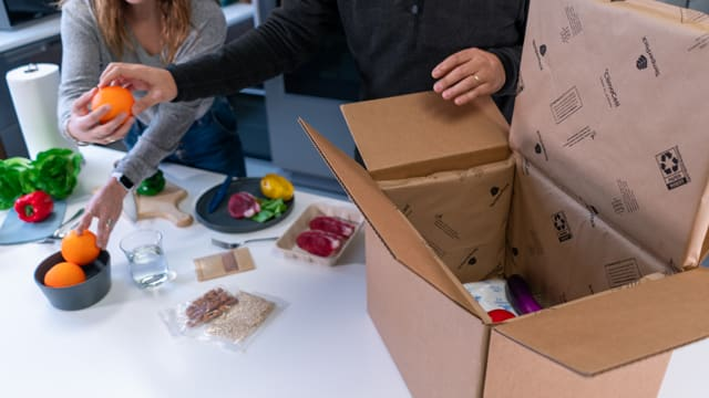 ClimaCell®, a sustainable thermal insulation barrier for temperature-sensitive goods such as meal kits, perishable groceries and medical products
