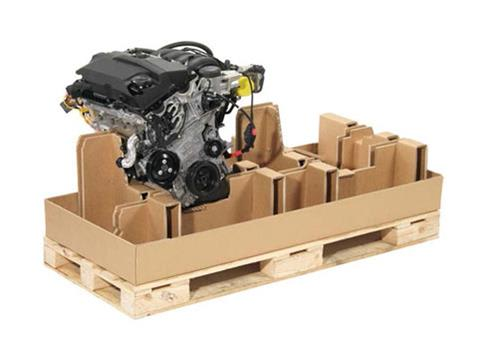 Industrial heavy duty corrugated packaging developed for the automotive industry