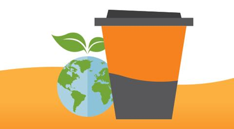 Coffee Cups Recycling Infographic