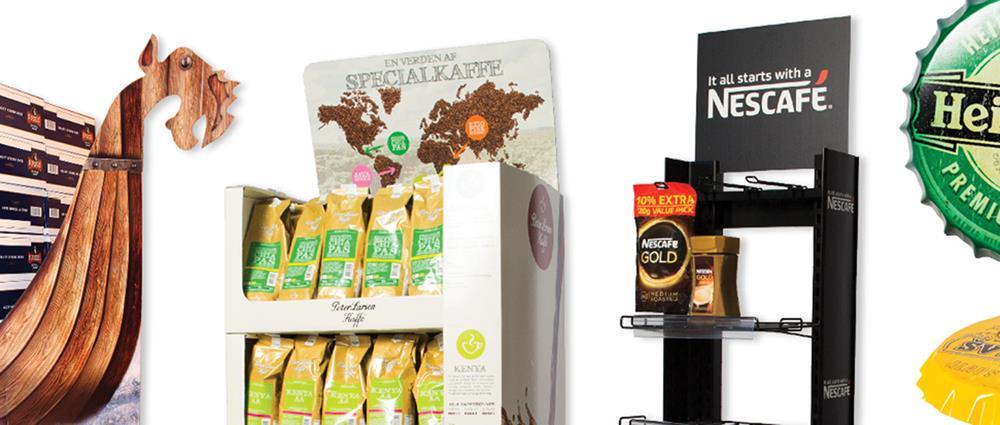 Innovative salgsdisplays og Point-of-Sale (POS)-løsninger i bølgepap, træ, metal og plast, der øger dit salg i butikken.