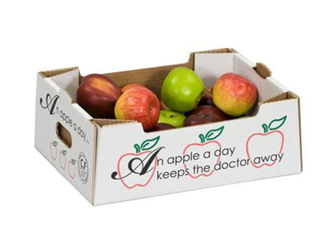 Corrugated tray developed for fruit packaging