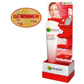 POPAI Award für Garnier Miracle Cream Display