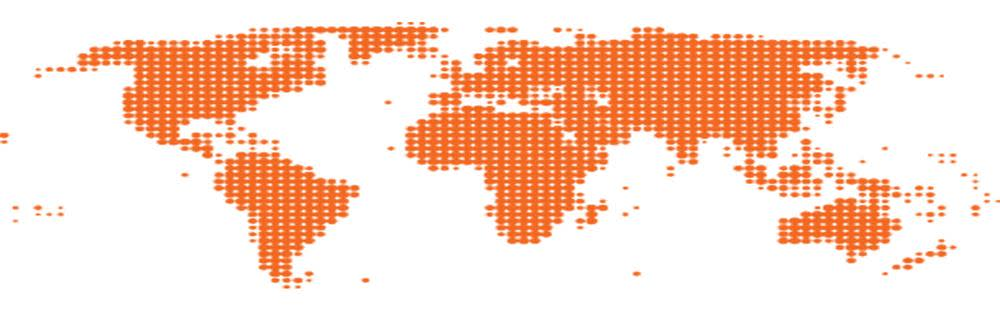 Global map showing how DS Smith works in partnership with packaging users across the globe