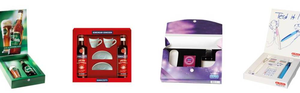 packaging for advertising material