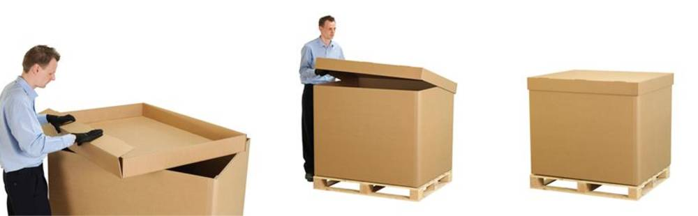 Industrial packaging powerply boxes