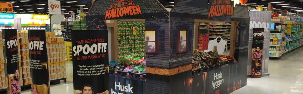 Golfkartonnen Halloween Point-of-Sale Display (POS)