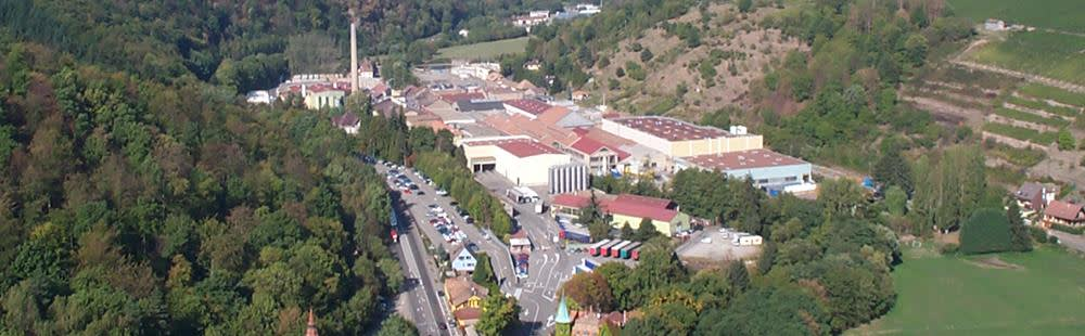 Kaysersberg aerial view