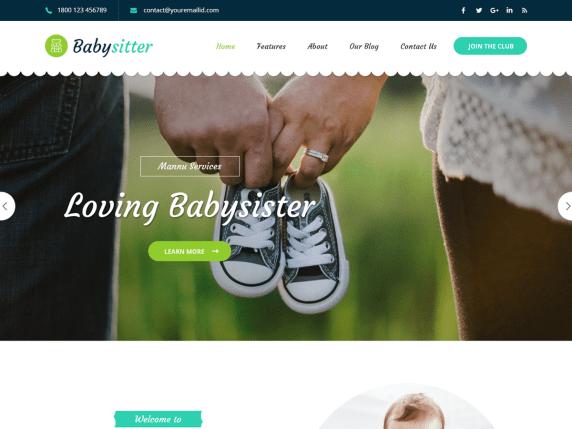 Babysitter Lite Free WordPress Theme