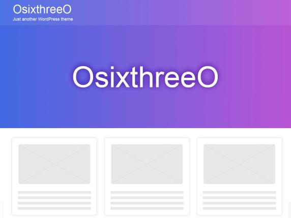OsixthreeO Multi-Purpose WordPress Theme