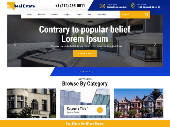 VW Real Estate WordPress Theme