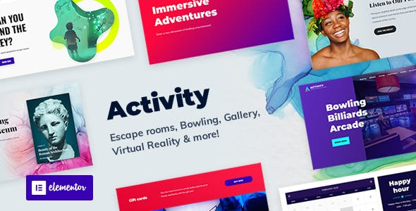 Activity - Booking WordPress Theme