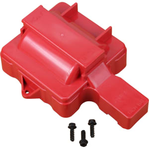 V8 HEI Distributor Replacement Coil Cover - Red