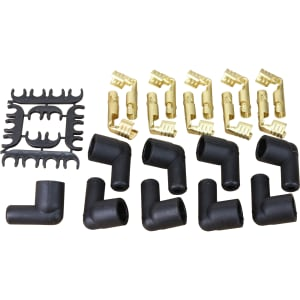 FEMALE Cap Boot and Terminal Conversion Kit For ALL 7-8mm Plug Wires