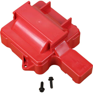 V6 HEI Distributor Replacement Coil Cover - Red