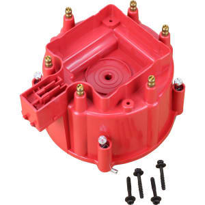 V6 HEI Distributor Replacement Cap - Red