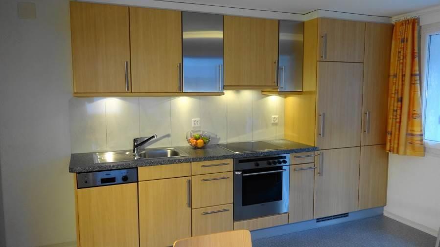 Wohnküche mit Südterrasse