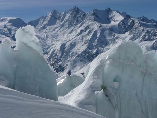 Gletscherfoto mit 4000er Berge