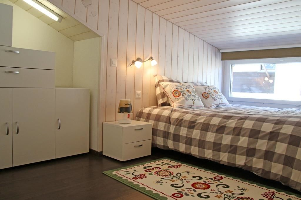Schlafzimmer in der Dachschräge