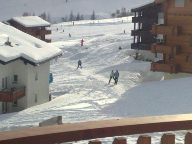 Skifahren zum Haus
