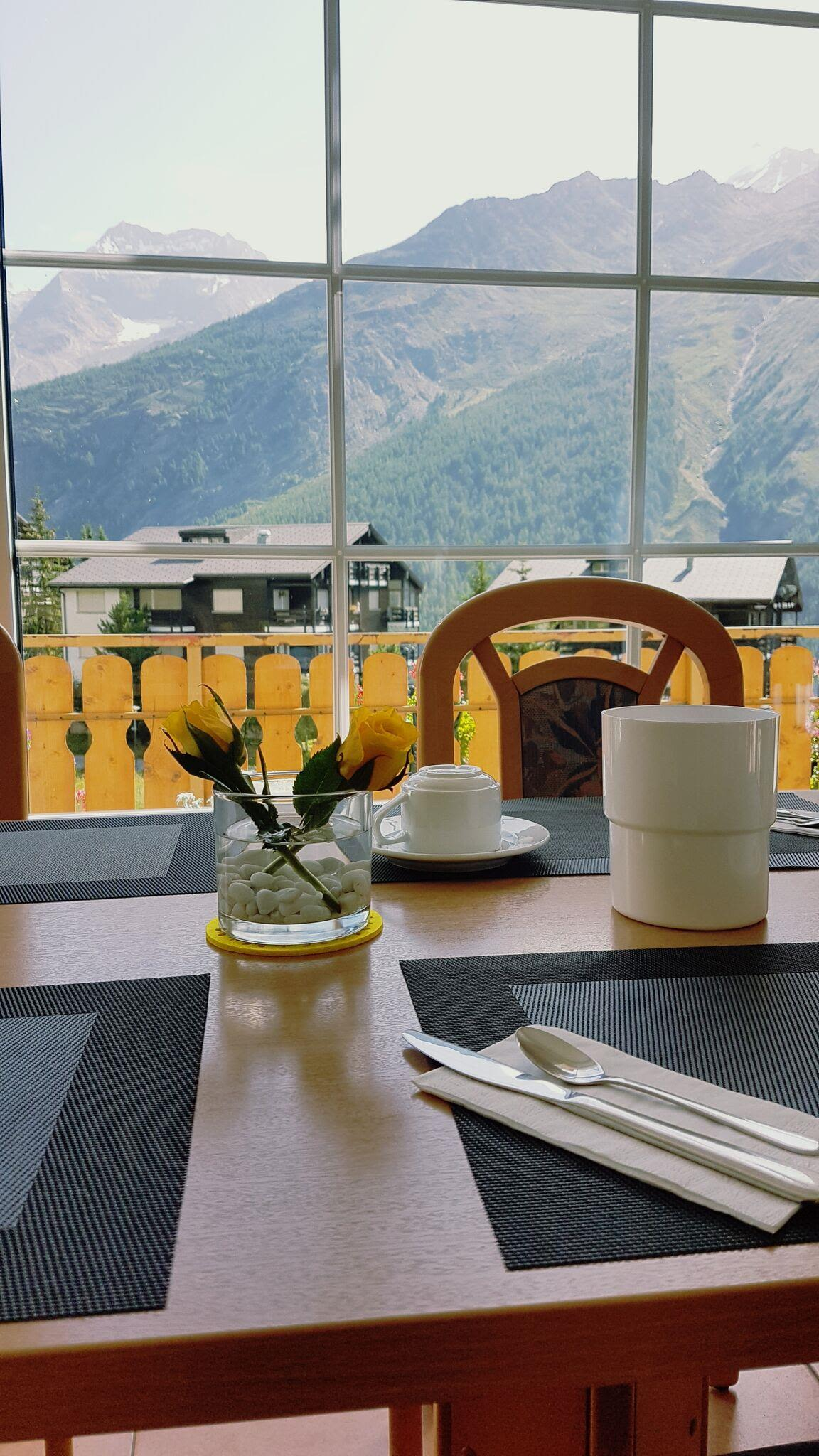 Aussicht Frühstücksaal