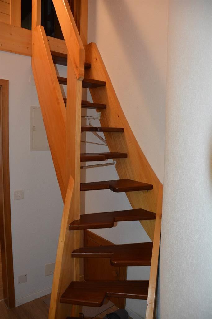 Treppe zum zweiten Schlafzimmer