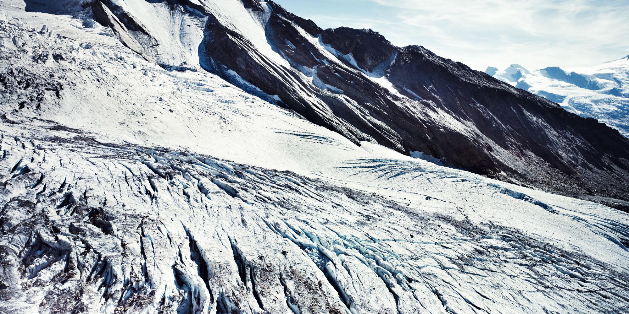 Gletscher in der Freien Ferienrepublik Saas-Fee