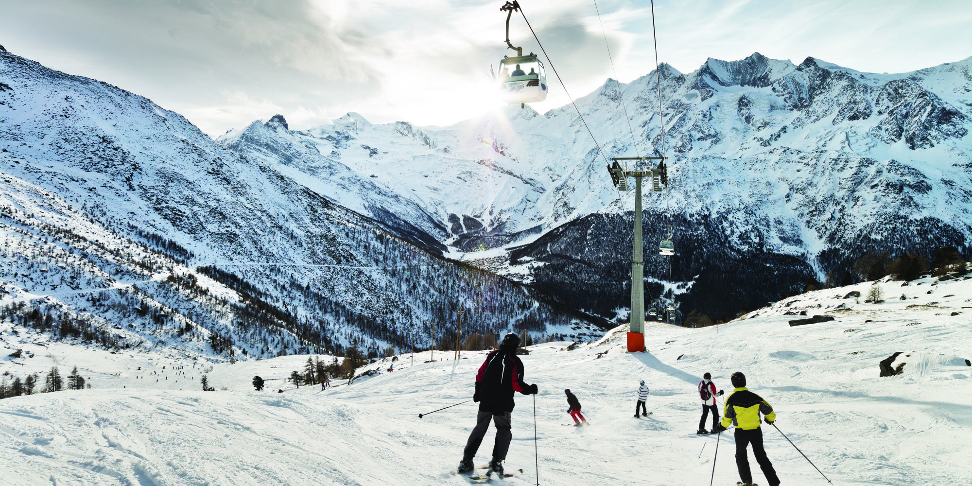Skiing Kreuzboden