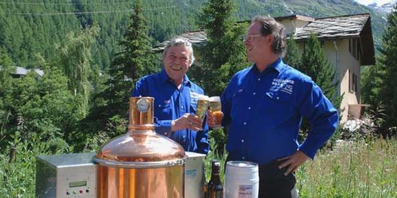 Bier Brauen in der Freien Ferienrepublik Saas-Fee