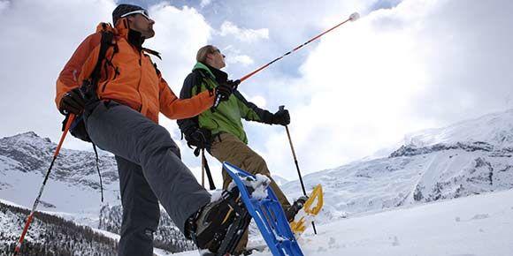 Schneeschuhlaufen in der Freien Ferienrepublik Saas-Fee