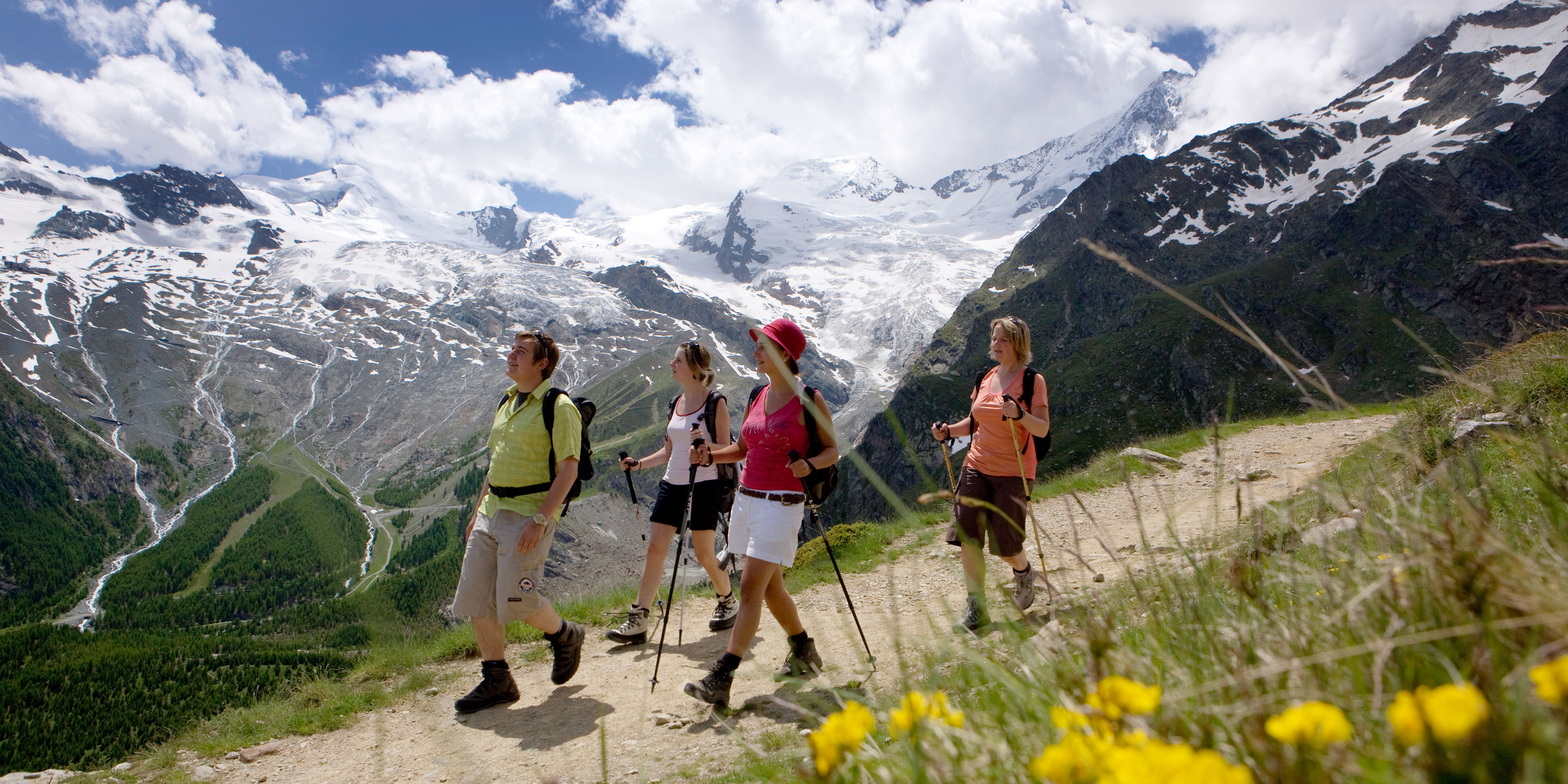 Summer sports in the Free Republic of Holidays Saas-Fee