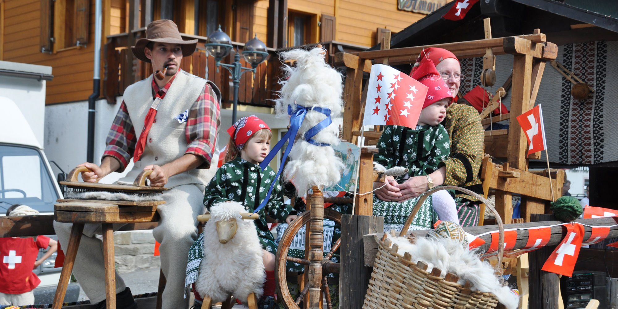 Swiss National Day in the Free Republic of Holidays Saas-Fee