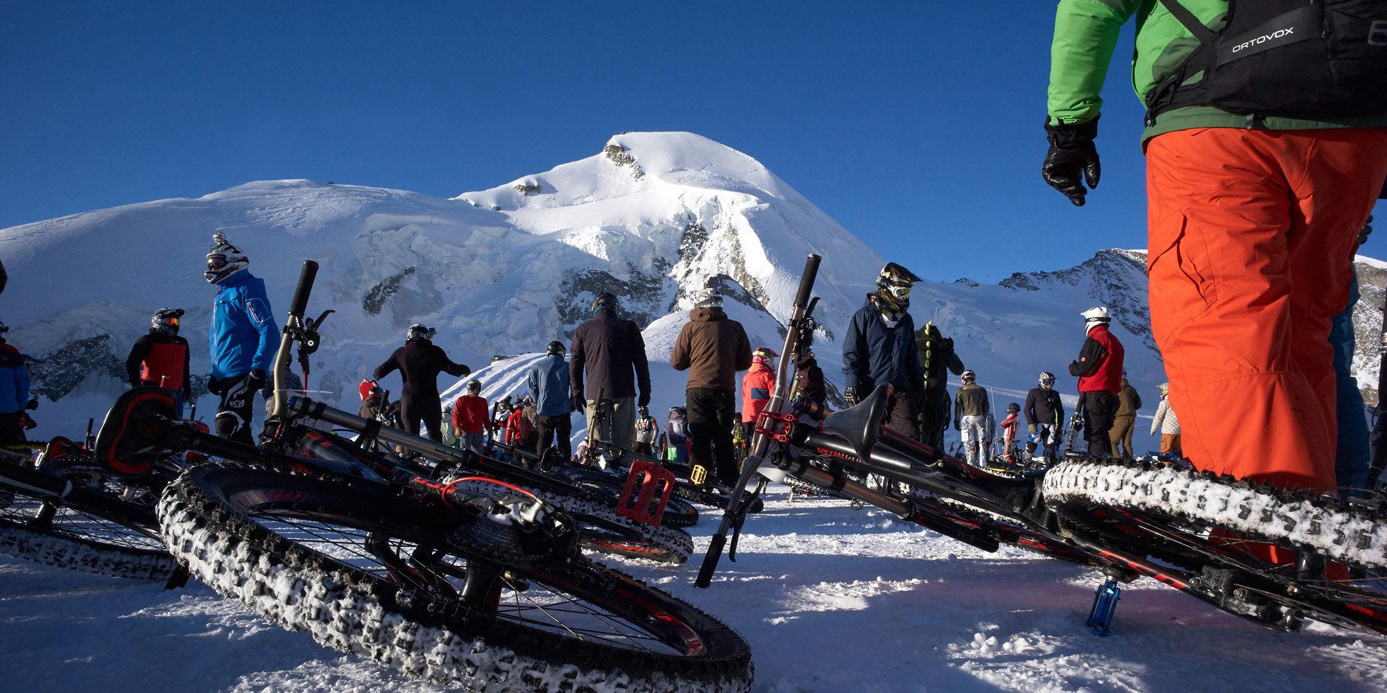 """Glacier Bike Downhill"""