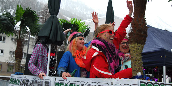 Après Ski Parade in the Free Republic of Holidays Saas-Fee