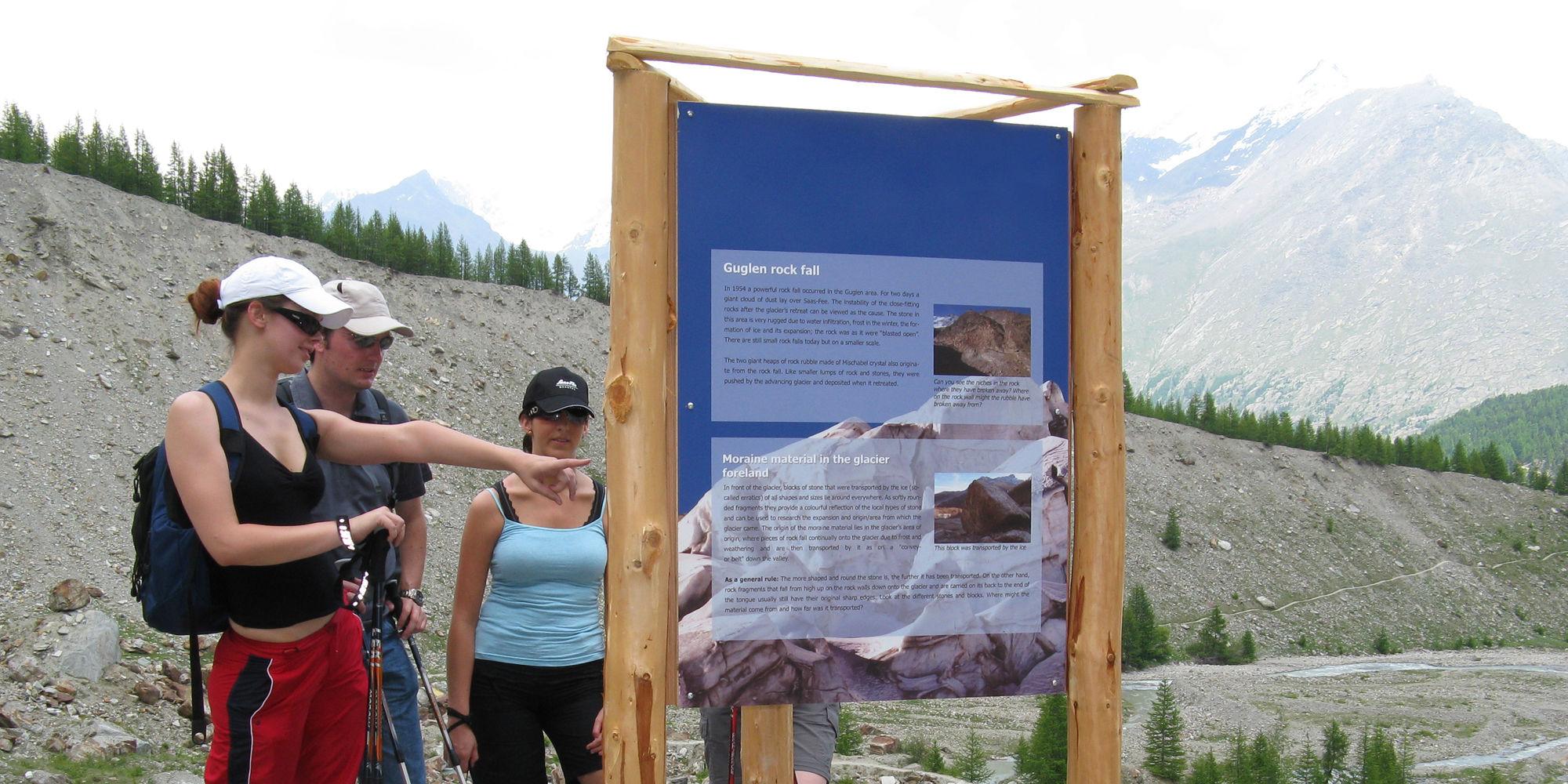 Gletscherlehrpfad in der Freien Ferienrepublik Saas-Fee