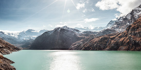Mattmark reservoir Saas-Almagell